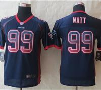 Youth 2014 New Houston Texans 99 Watt Drift Fashion Blue Elite Jerseys