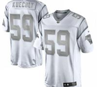 New Carolina Panthers #59 Luke Kuechly White Platinum Jersey