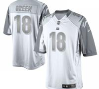 New Cincinnati Bengals #18 AJ Green White Platinum Jersey