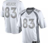 New Denver Broncos #83 Wes Welker White Platinum Jersey