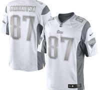 New New England Patriots #87 Rob Gronkowski White Platinum Jersey