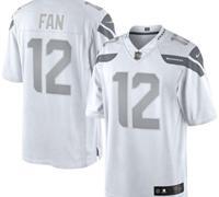 New Seattle Seahawks #12th Fan White Platinum Jersey