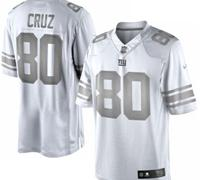 New York Giants #80 Victor Cruz White Platinum Jersey
