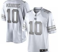 New York Giants #10 Eli Manning White Platinum Jersey