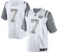 New York Jets #7 Geno Smith White Platinum Jersey