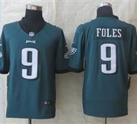 Nike Eagles #9 Nick Foles Midnight Green Team Color NFL Game Jersey