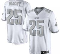 Philadelphia Eagles #25 LeSean McCoy White Platinum Jersey