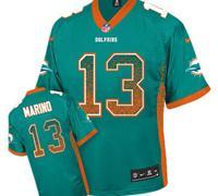 Youth NEW Dolphins #13 Dan Marino Aqua Green NFL Elite Drift Fashion Jersey