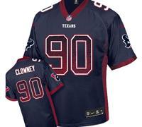Youth NEW Texans #90 Jadeveon Clowney Navy Blue Team Color NFL Elite Drift Fashion Jersey