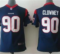 Youth NEW Texans #90 Jadeveon Clowney Navy Blue Team Color NFL Elite Jersey