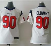 Youth NEW Texans #90 Jadeveon Clowney White NFL Elite Jersey