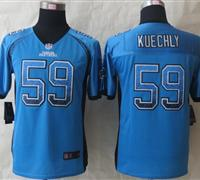 Youth 2014 New Carolina Panthers 59 Kuechly Drift Fashion Blue Elite Jerseys