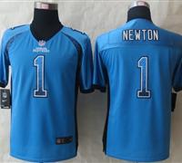 Youth 2014 New Carolina Panthers 1 Newton Drift Fashion Blue Elite Jerseys