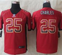 Youth 2014 New Kansas City Chiefs 25 Charles Drift Fashion Red Elite Jerseys