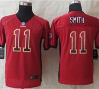 Youth 2014 New Kansas City Chiefs 11 Smith Drift Fashion Red Elite Jerseys