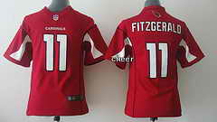 NFL Kids game Jersey Arizona Cardinals #11 Fitzgerald red Jersey