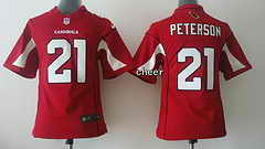 NFL Kids game Jersey Arizona Cardinals #21 Peterson red Jersey