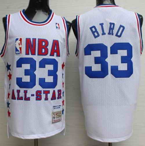 Mitchell And Ness Celtics #33 Larry Bird White 1990 All Star Stitched NBA Jersey
