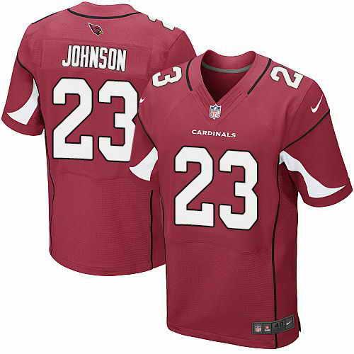 Nike Cardinals #23 Chris Johnson Red Team Color Men's Stitched NFL Elite Jersey