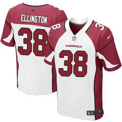 Nike Cardinals #38 Andre Ellington White Men's Stitched NFL Elite Jersey
