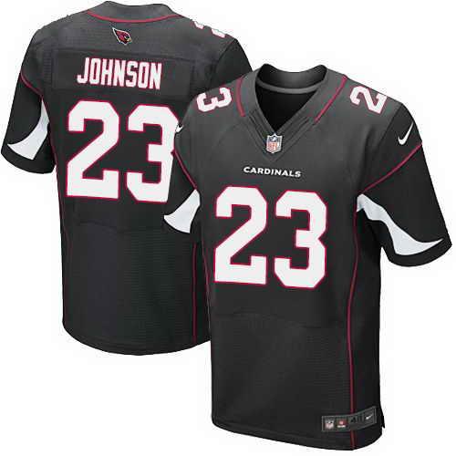 Nike Cardinals #23 Chris Johnson Black Alternate Men's Stitched NFL Elite Jersey