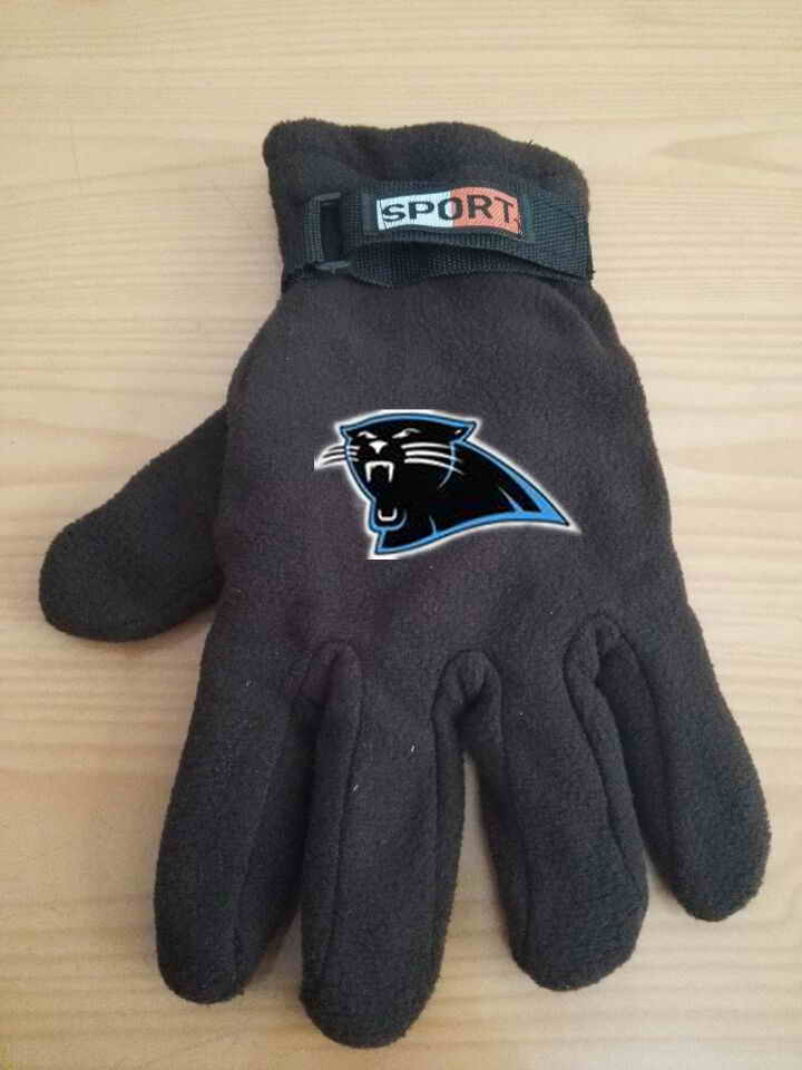 Panthers Winter Velvet Warm Sports Gloves2