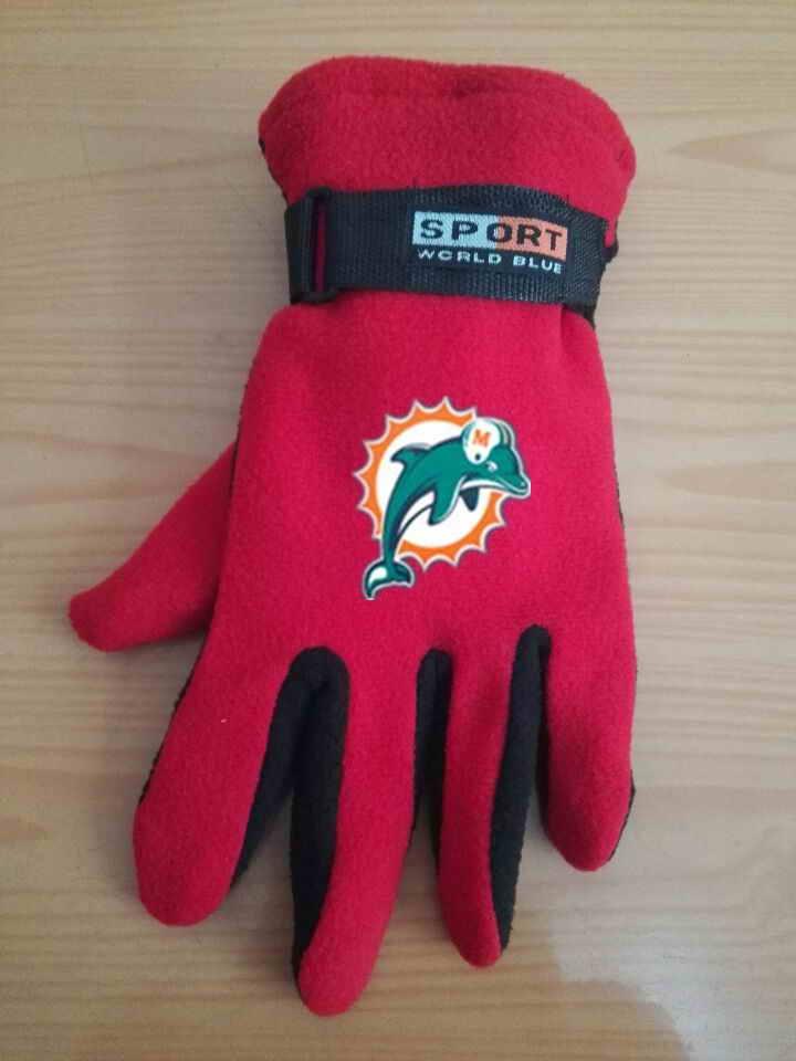 Dolphins Winter Velvet Warm Sports Gloves4