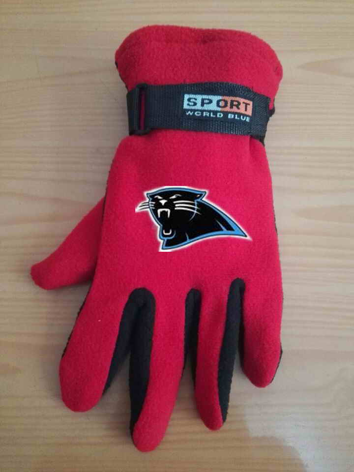 Panthers Winter Velvet Warm Sports Gloves6