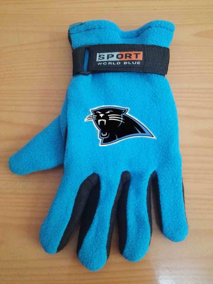 Panthers Winter Velvet Warm Sports Gloves4