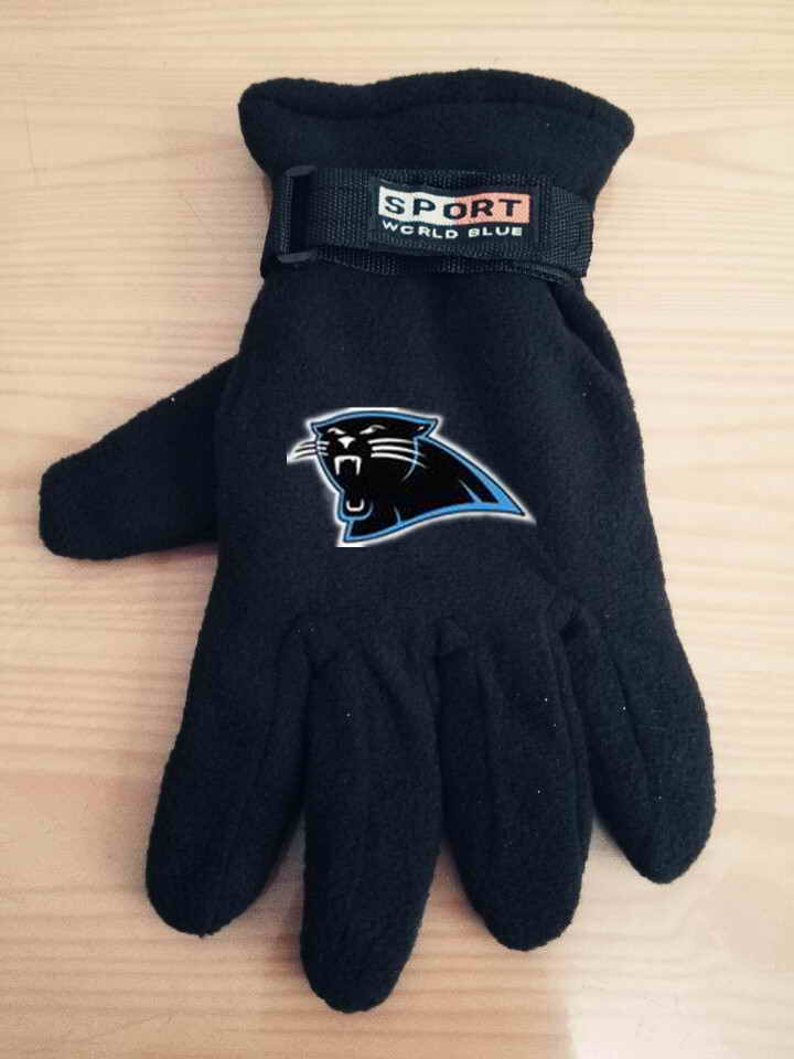 Panthers Winter Velvet Warm Sports Gloves3