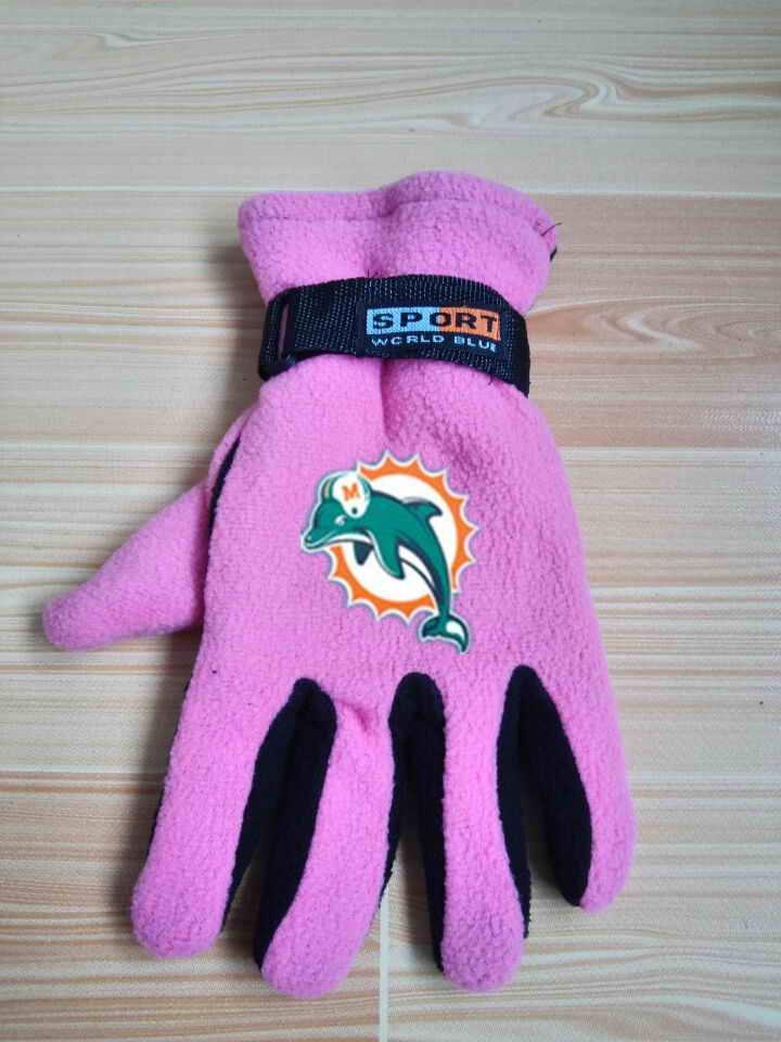 Dolphins Winter Velvet Warm Sports Gloves5