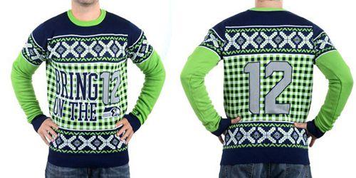Nike Seahawks #12 Fan Men's Ugly Sweater