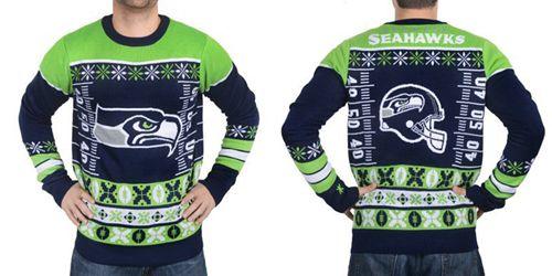 Nike Seahawks Men's Ugly Sweater