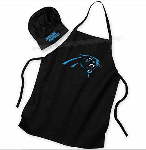 Panthers Black Team Chef Hat And Apron Set