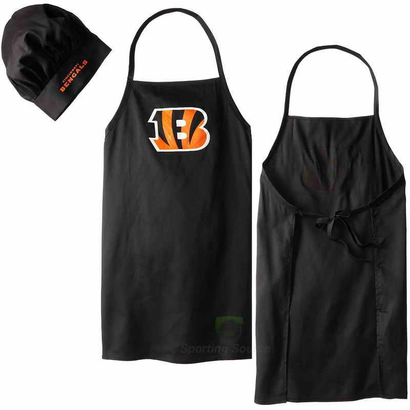 Bengals Black Team Chef Hat And Apron Set