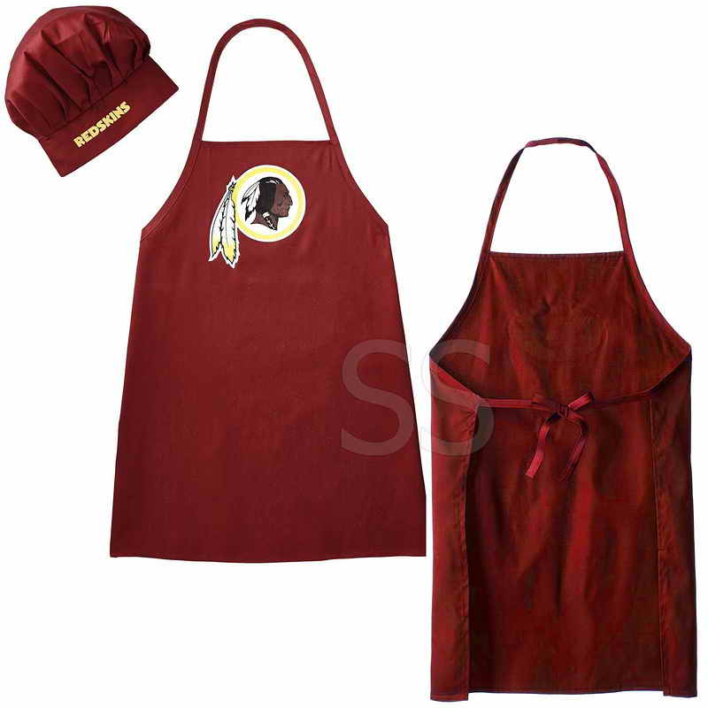 Redskins Red Team Chef Hat And Apron Set