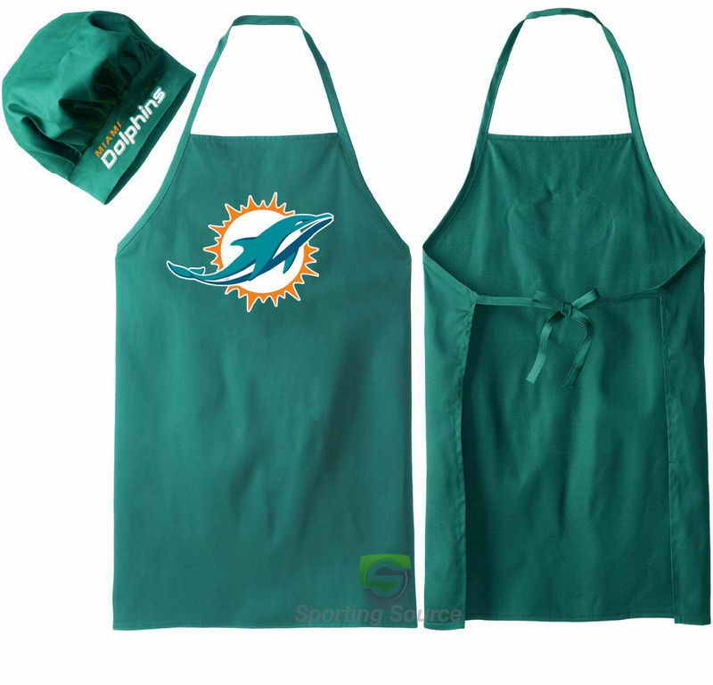 Dolphins Green Team Chef Hat And Apron Set