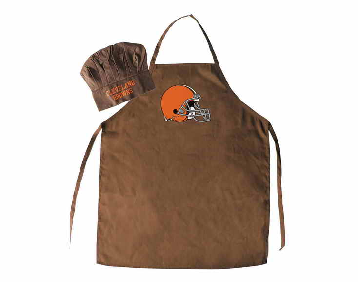 Browns Brown Team Chef Hat And Apron Set