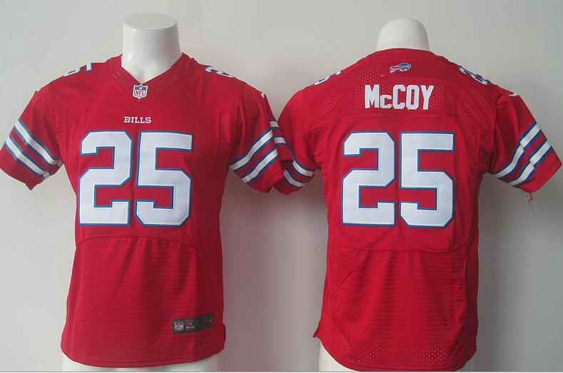 Nike Bills 25 LeSean McCoy Red Kids Jersey