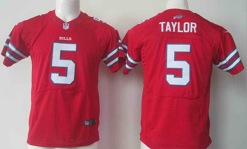 NFL Buffalo Bills #5 Tyrod TAYLOR Red Kids Jersey