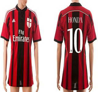 2014-15 AC Milan Blank Home Soccer AAA+ T-Shirt_Womens