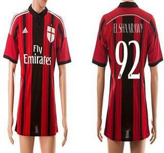2014-15 AC Milan #92 El Shaarawy Home Soccer AAA+ T-Shirt