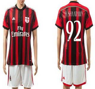 2014-15 AC Milan #92 El Shaarawy Home Soccer Shirt Kit