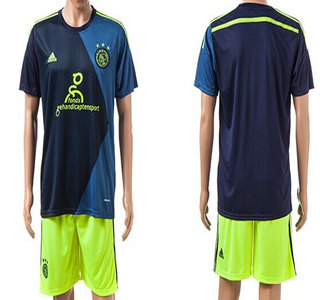 2014-15 AFC Ajax Blank (or Custom) Away Soccer Shirt Kit
