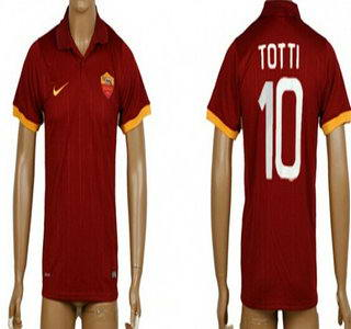 2014-15 AS Roma #10 Totti Home Soccer AAA+ T-Shirt