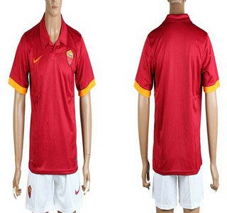 2014-15 AS Roma Blank Home Soccer Shirt Kit