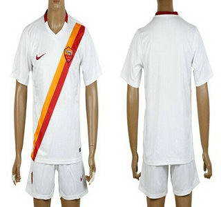 2014-15 AS Roma Blank Away Soccer Shirt Kit