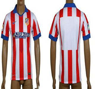 2014-15 Atletico Madrid Blank Home Soccer AAA+ T-Shirt