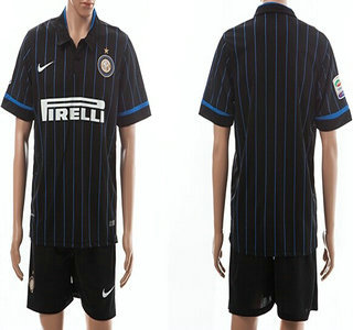 2014-15 Internazionale Milano Blank Home Soccer Shirt Kit