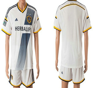 2014-15 Los Angels Galaxy Blank Home Soccer Shirt Kit